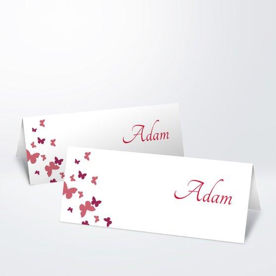 Tischkarten Hochzeit - Du, nur Du