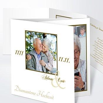 Diamantene Hochzeit Einladung - Vermählung