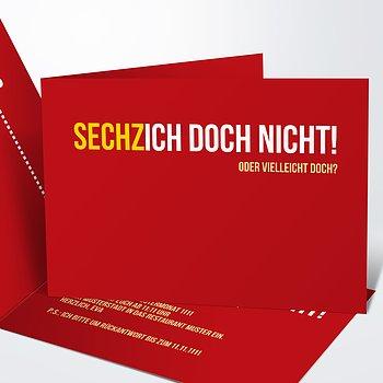 Geburtstagseinladungen   Sechzich