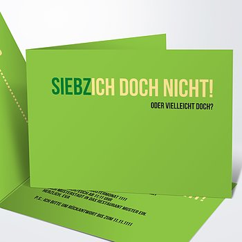 Geburtstagseinladungen - Siebzich