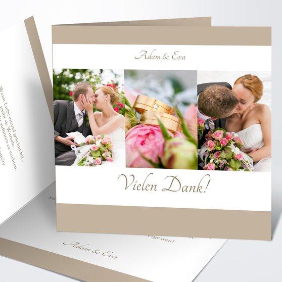 Danksagungskarte Hochzeit - danksagungskarte hochzeit selber gestalten
