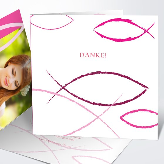 Bedeutung - Quadratische Klappkarte 145x145 - Hot Pink