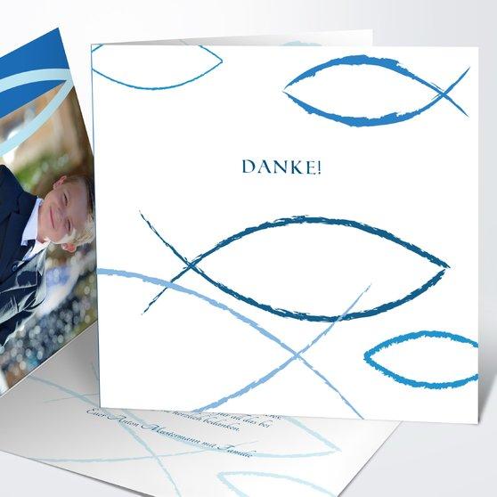 Bedeutung - Quadratische Klappkarte 145x145 - Dunkelblau