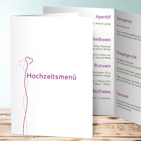 Zwei im Glück - Vertikale Klappkarte (A5) 145x210 - Fuchsia