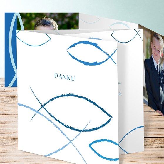 Bedeutung - Doppelklappkarte 145x145 - Dunkelblau