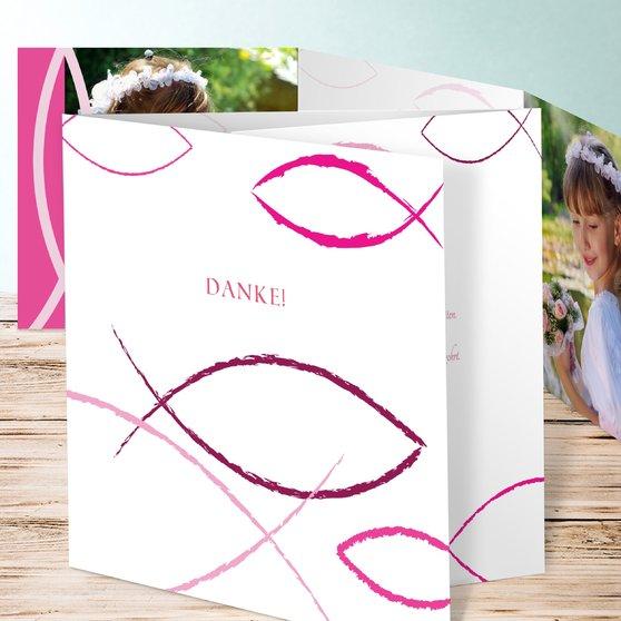 Bedeutung - Doppelklappkarte 145x145 - Hot Pink