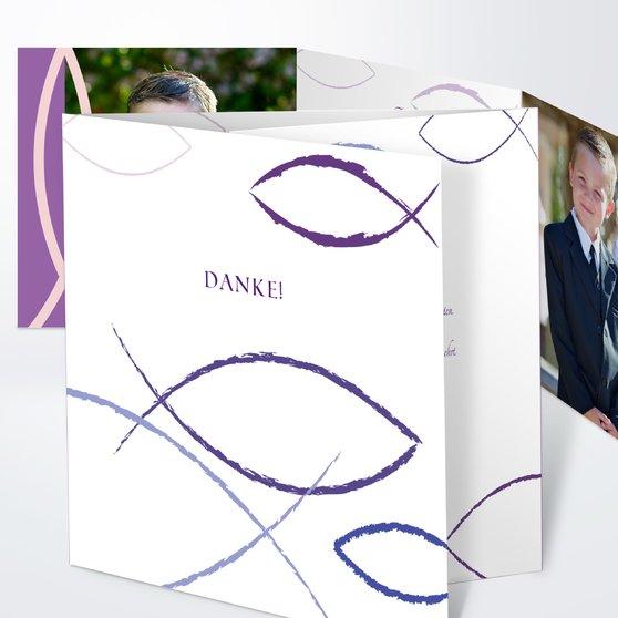 Bedeutung - Doppelklappkarte 145x145 - Veilchen