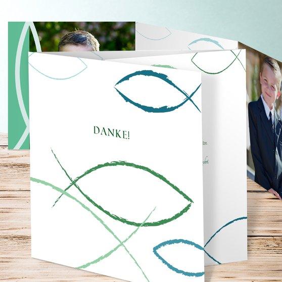 Bedeutung - Doppelklappkarte 145x145 - Jade