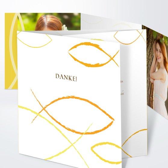 Bedeutung - Doppelklappkarte 145x145 - Gelb