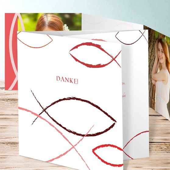 Bedeutung - Doppelklappkarte 145x145 - Feines Rosa