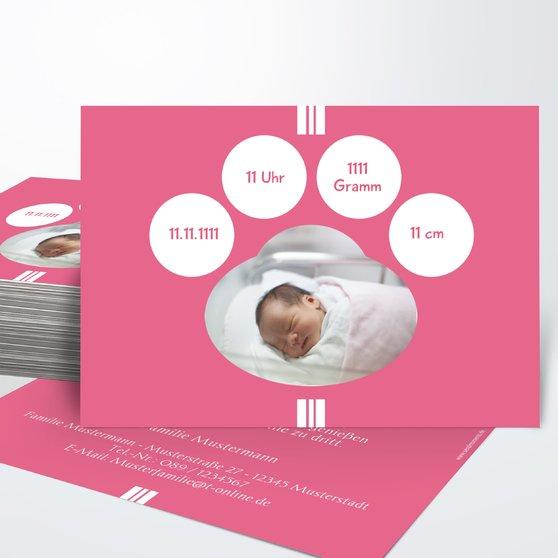 Lichtkegel - Horizontal einfach 148x105 - Hot Pink