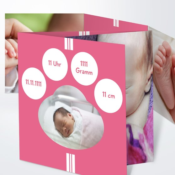 Lichtkegel - Doppelklappkarte 145x145 - Hot Pink