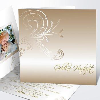 Goldene Hochzeit   Goldene Hochzeit Einladungskarten
