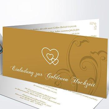 Goldene Hochzeit   Goldene Hochzeit Einladungskarten Vorlage