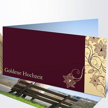Goldene Hochzeit   Goldene Hochzeit Danksagungskarten