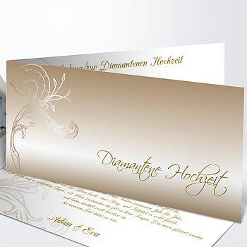 Diamantene Hochzeit Einladung - Frühlingsgefühle