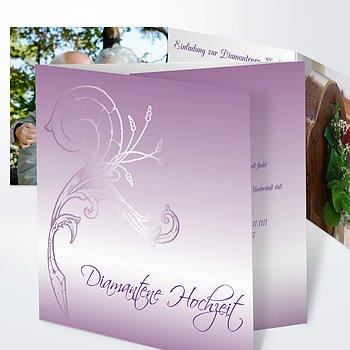 Diamantene Hochzeit Einladung   Frühlingsgefühle