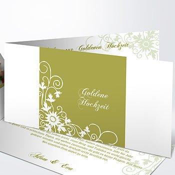 Goldene Hochzeit   Goldene Hochzeit Einladungskarten Selber Machen