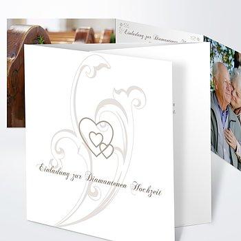 Diamantene Hochzeit Einladung - Liebesbrief