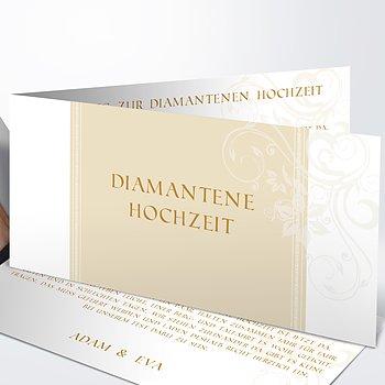 Diamantene Hochzeit Einladung - Traumhochzeit