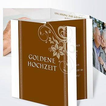 Goldene Hochzeit   Goldene Hochzeit Dankeskarten Druck