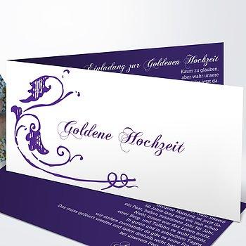 Goldene Hochzeit   Goldene Hochzeit Einladungen Selber Gestalten