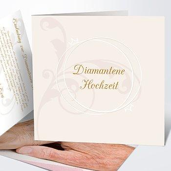Diamantene Hochzeit Einladung   Pastellblüte