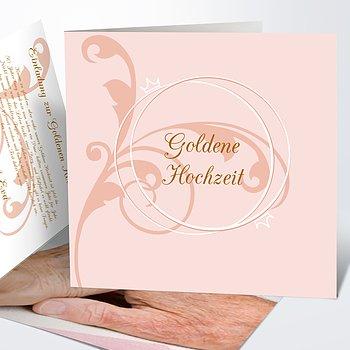 Goldene Hochzeit   Goldene Hochzeit Einladung Gestalten