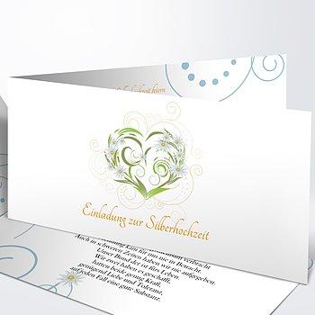 Silberhochzeit - silberhochzeit danksagungskarte selbst gestalten