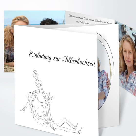 Einladungskarten Silberhochzeit Einladungskarten: Einladungskarten Silberhochzeit Aus Vorlagen Selber Gestalten