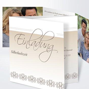 Silberhochzeit   Silberne Hochzeit Dankeskarten