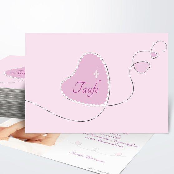 Taufkarten - Herzchen