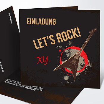 Geburtstagseinladungen - RockStar