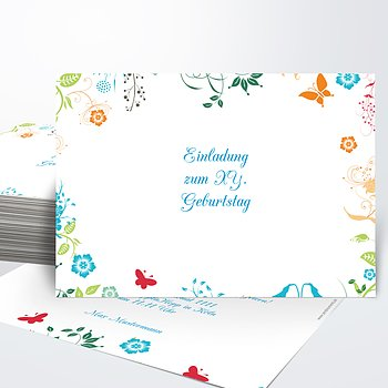 Geburtstagseinladungen - Gladiolengarten