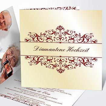 Diamantene Hochzeit Einladung   Bestimmung