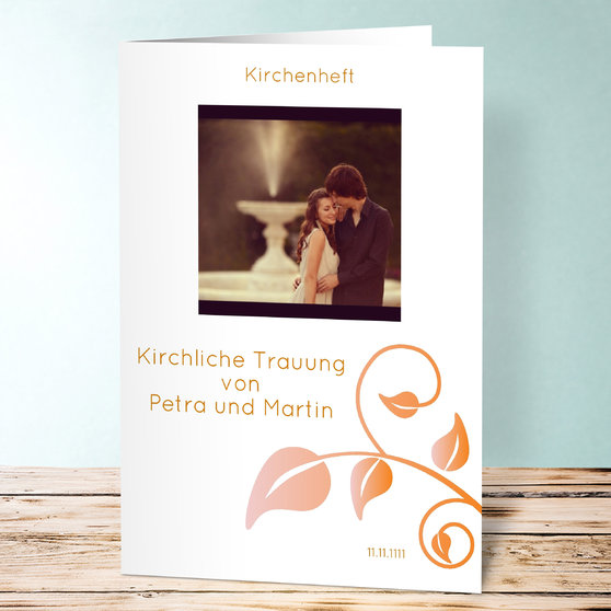 Magischer Moment - Vertikale Klappkarte 148x210 (A5) - Orange