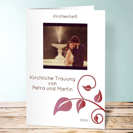 Magischer Moment - Vertikale Klappkarte 148x210 (A5) - Hell Bordeaux