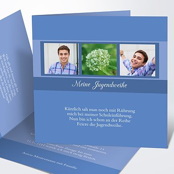 Jugendweihe Karten - Bilderreihe