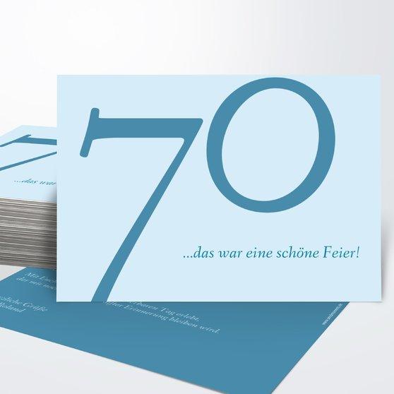 Danksagung Geburtstag - Meine Siebzig