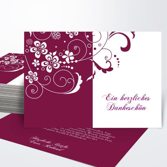 Danksagung Geburtstag - Blütenkarte