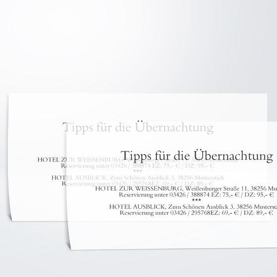 Einlegeblätter - Transparente Einlegeblätter Dinlang