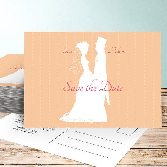 Romantische Save-the-Date-Karte - Galerie Hochzeitsportal24