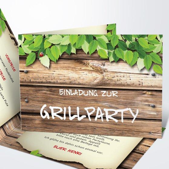 Einladung zur Grillparty, damit ihre Gartenparty ein Erfolg wird ...