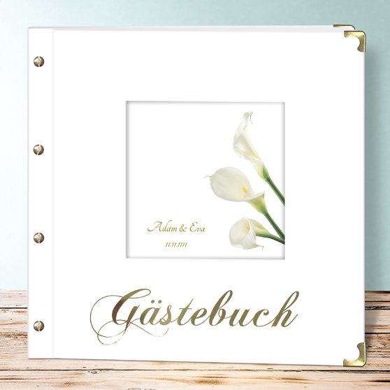 Blume der Liebe - Buch Quadratisch 300x300 - Weiß