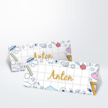 Tischkarte Einschulung - Rechenblock