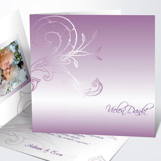 Frühlingsgefühle - Quadratische Klappkarte 145x145 - Zartes Violett