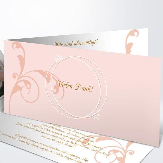 Pastellblüte - Horizontale Klappkarte 210x100 - Helles Ocker