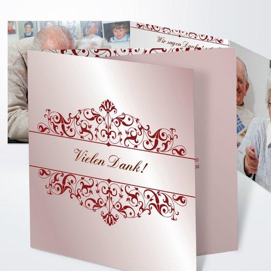 Bestimmung - Doppelklappkarte 145x145 - Altrosa