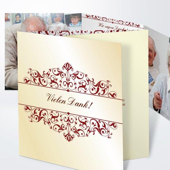Bestimmung - Doppelklappkarte 145x145 - Zartes Gold