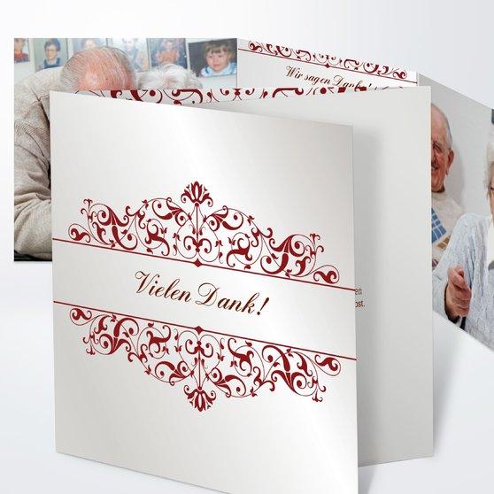 Bestimmung - Doppelklappkarte 145x145 - Grau